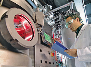 PROCESS STEP Evonik's fermentation plant can produce biocatalysts for making chiral alcohols.