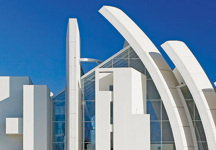 TEMPLE OF NANOSCIENCE Rome's Dio Padre Misericordioso Church, also known as the Jubilee Church, retains its bright white color because of nanostructured titanium dioxide.