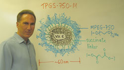 Academic winner Bruce Lipshutz of UC Santa Barbara devised the surfactant molecule TPGS-750-M, which forms nanomicelles that enable organic syntheses in water.