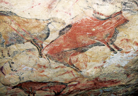 OFF THE ENDANGERED LIST?: Bison roam the ceilings of Altamira Cave.