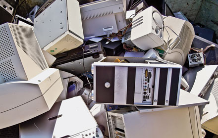 Under the Basel Convention, electronic waste, such as old computer equipment, can no longer be sent from developed nations to the developing world.