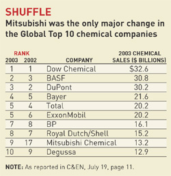 C&EN: COVER STORY - 2004 INDUSTRY REVIEW