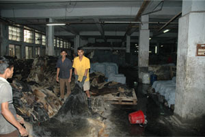 Skin Assessment: Workers handle incoming hides at a major Hazaribagh tannery.