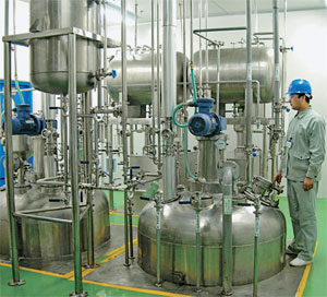 Rising Fortunes Top Chinese manufacturers of pharmaceutical ingredients are enjoying growing sales as their customers start narrowing down their pool of suppliers. Pictured here is Asymchem's FDA-compliant facility in Tianjin, China.