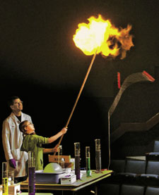 The Indiana Section's chemistry show created a lot of heat.