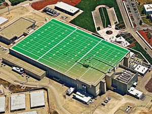 FOOTPRINT: The NIF facility covers an area roughly equivalent to three football fields.