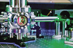 Ultrafast: A cryostat contains a cooled Ti:sapphire laser amplifier crystal that is used to generate high-power femtosecond pulses for attosecond experiments.