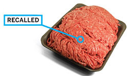 U.S., ONGOING: Ground beef is frequently recalled in the U.S. for E. coli or Salmonella contamination.