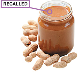 U.S., 2009 & 2007: Peanuts and products containing peanut ingredients were recalled in the U.S. in 2009 and peanut butter in 2007 for Salmonella contamination.