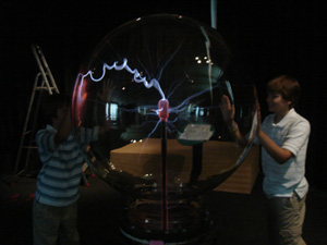 Parker installed the largest plasma ball in Europe at the Technorama, in Winterthur, Switzerland.